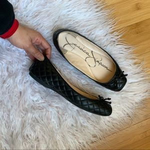 Jessica Simpson Mabelle Square Toe Quilted Flat